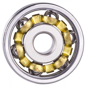 GRW Ball Bearing with gold coated retainer