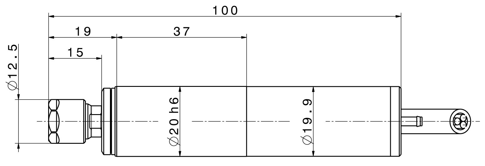 Type 4020 dimensions