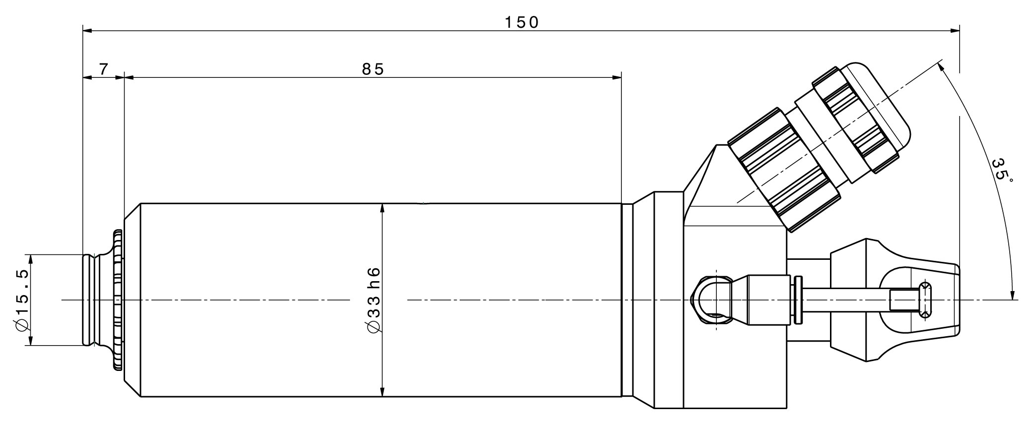 Type 4025 DC-T 'sealing air' dimensions
