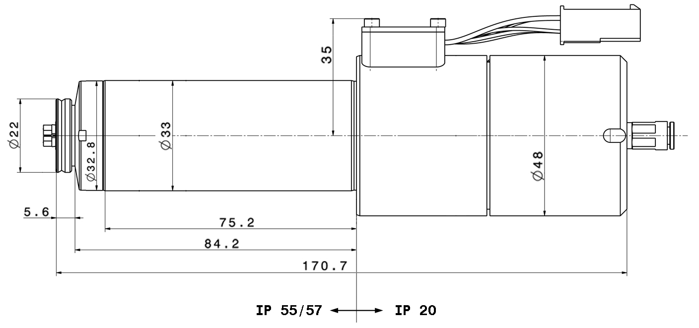 Type 4033 AC-ST-60 dimensions