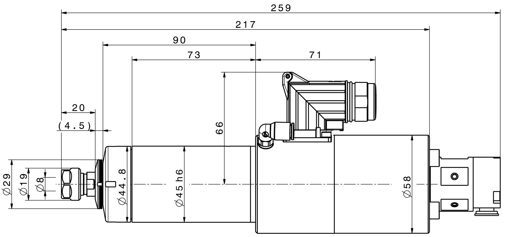 Type 4040DC-S-ER-DD dimensions