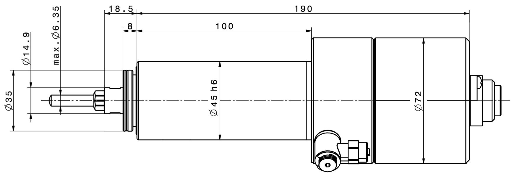Type 4040 dimensions