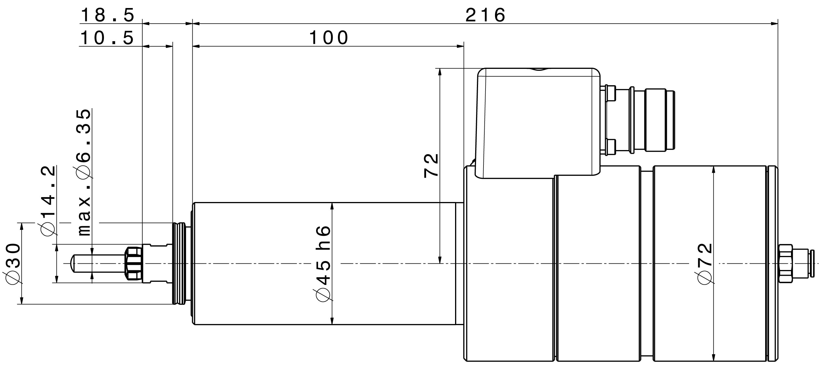 Type 4041 DC-S dimensions