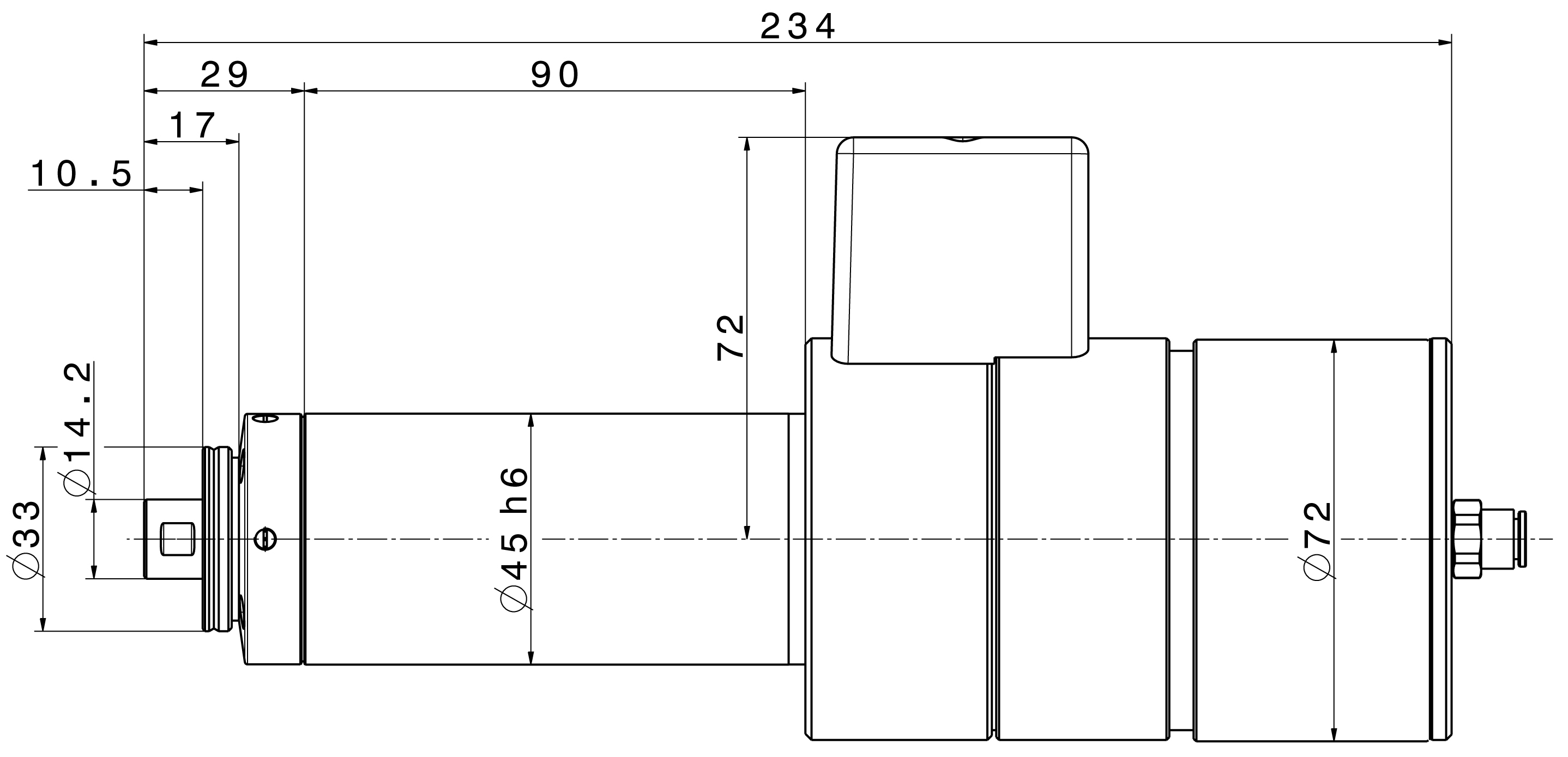 Type 4041 HY-ESD-BW dimensions