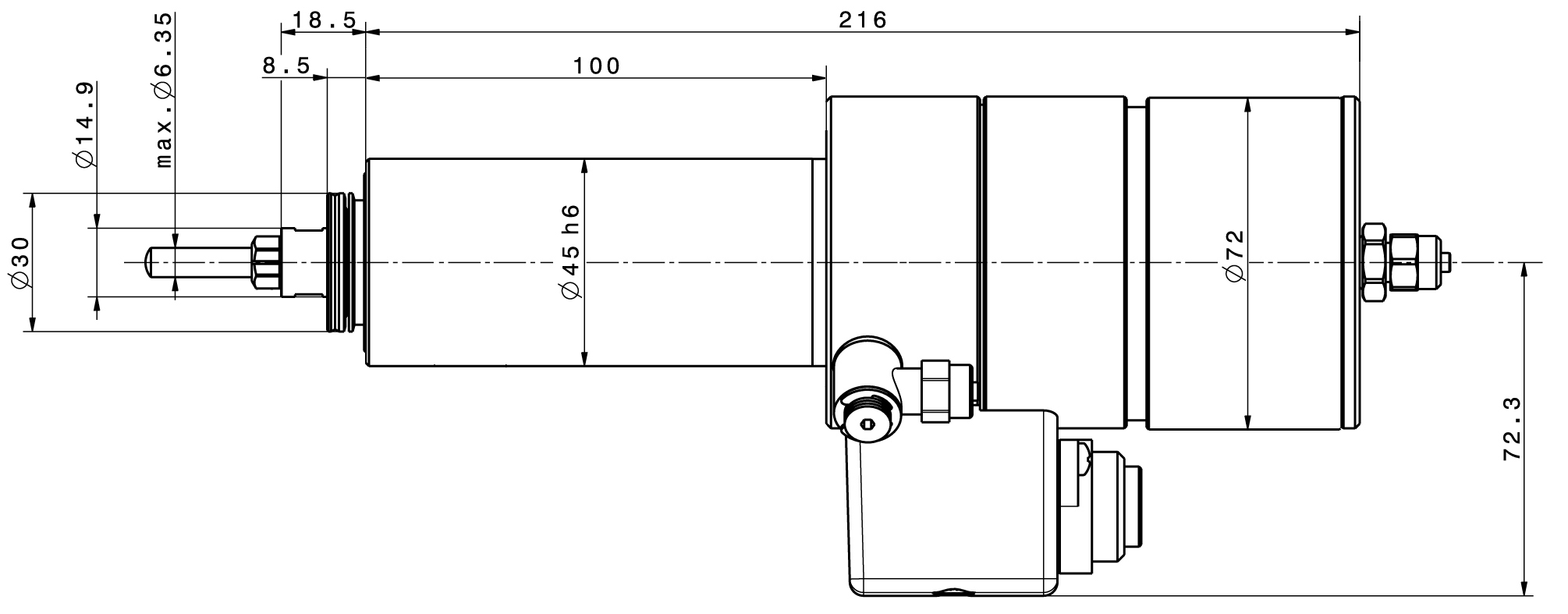 Type 4041 ESD dimensions