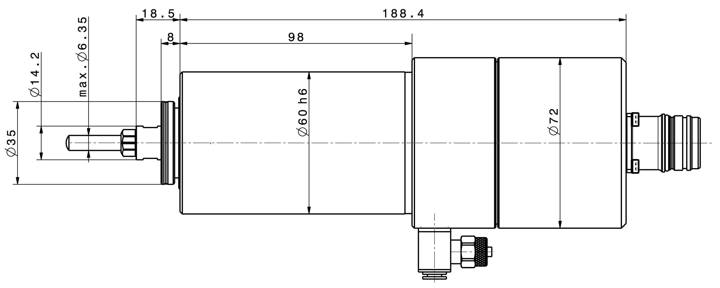 Type 4060 AC-T dimensions