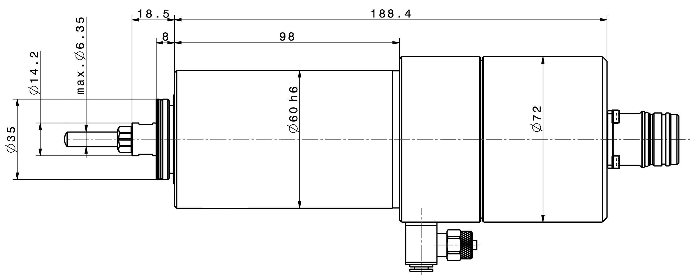 Type 4060 DC-T dimensions