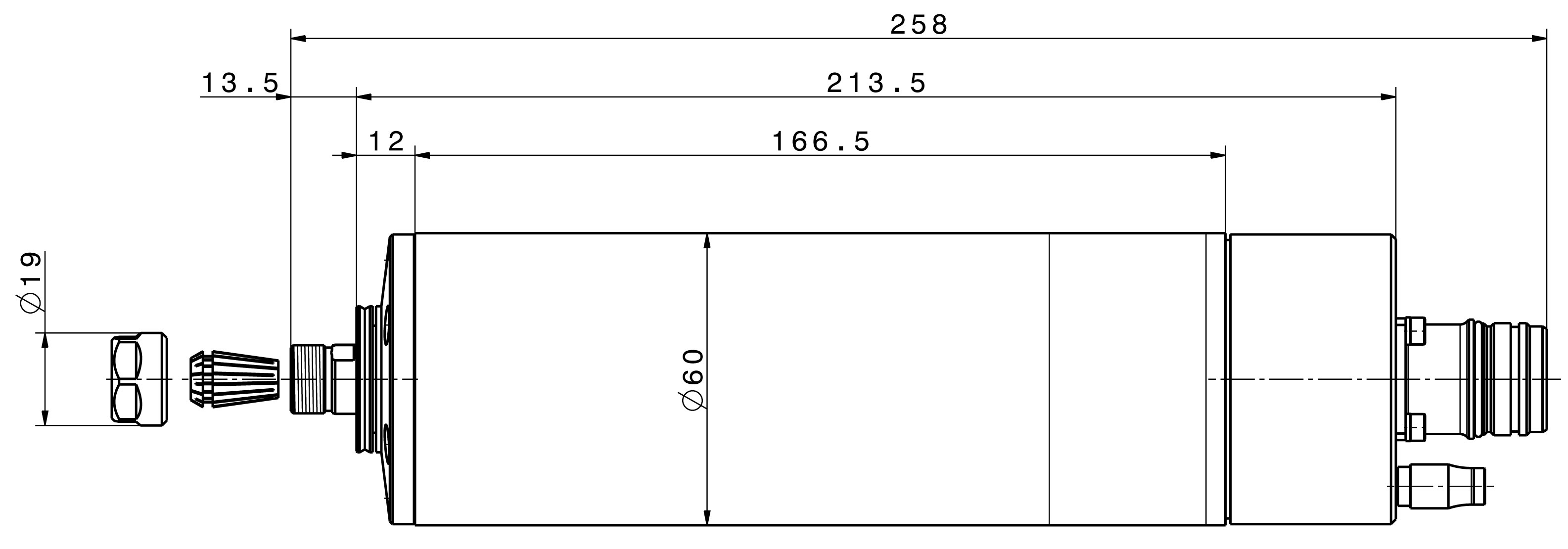Type 4060 ER-S dimensions