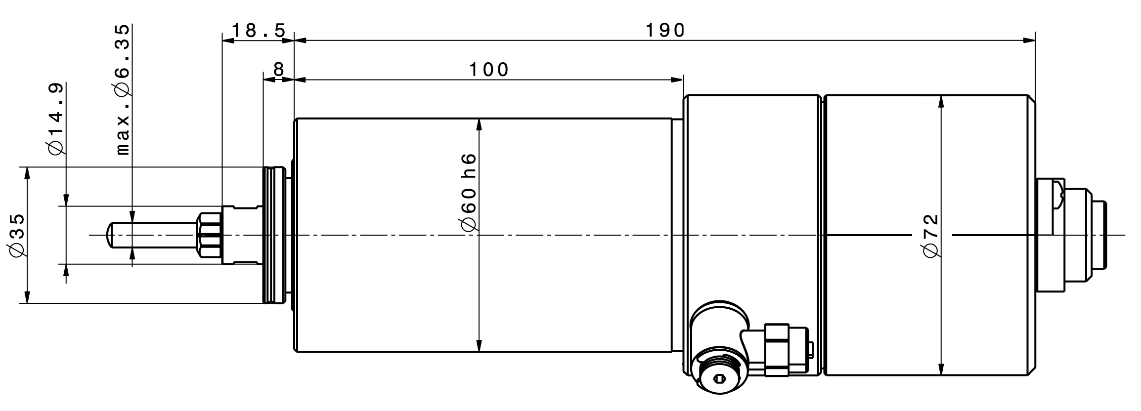 Type 4060 AC dimensions