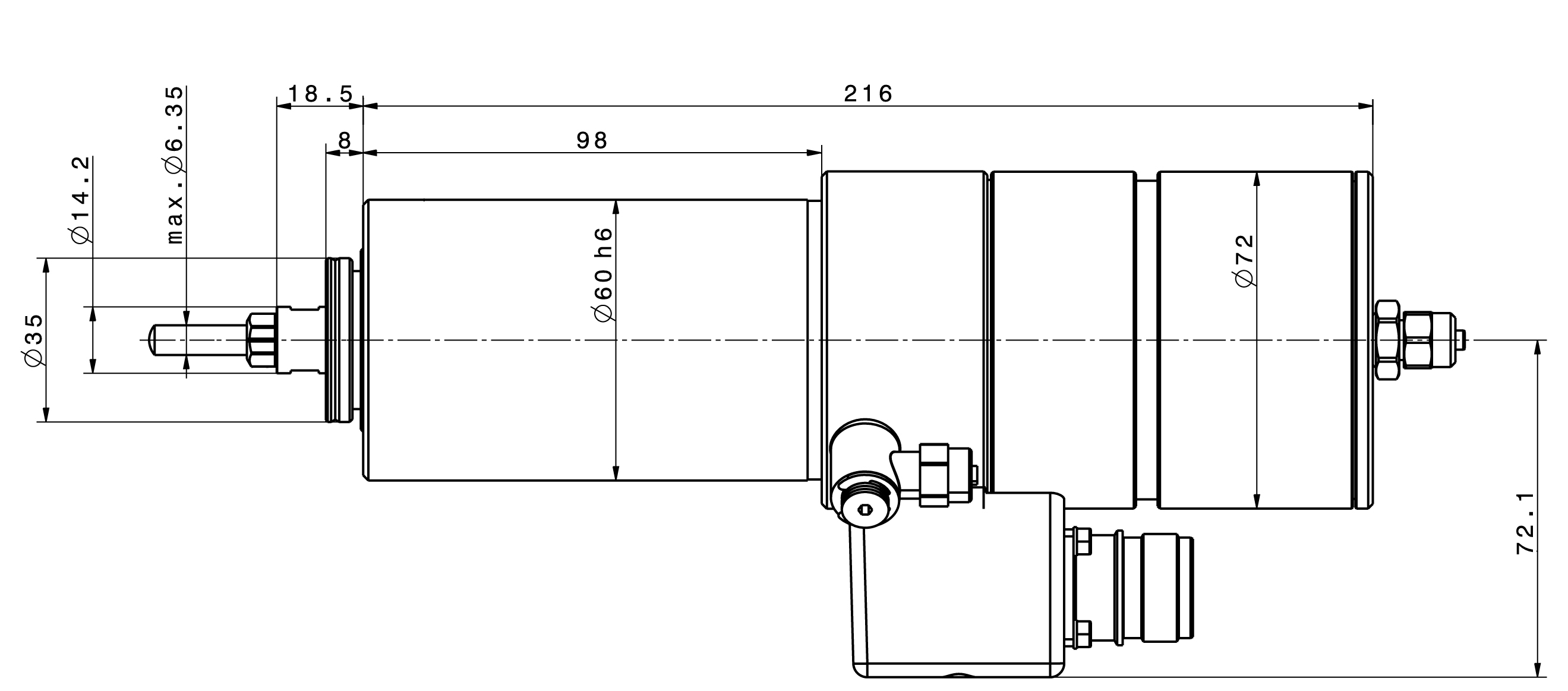 Type 4061 DC-S dimensions