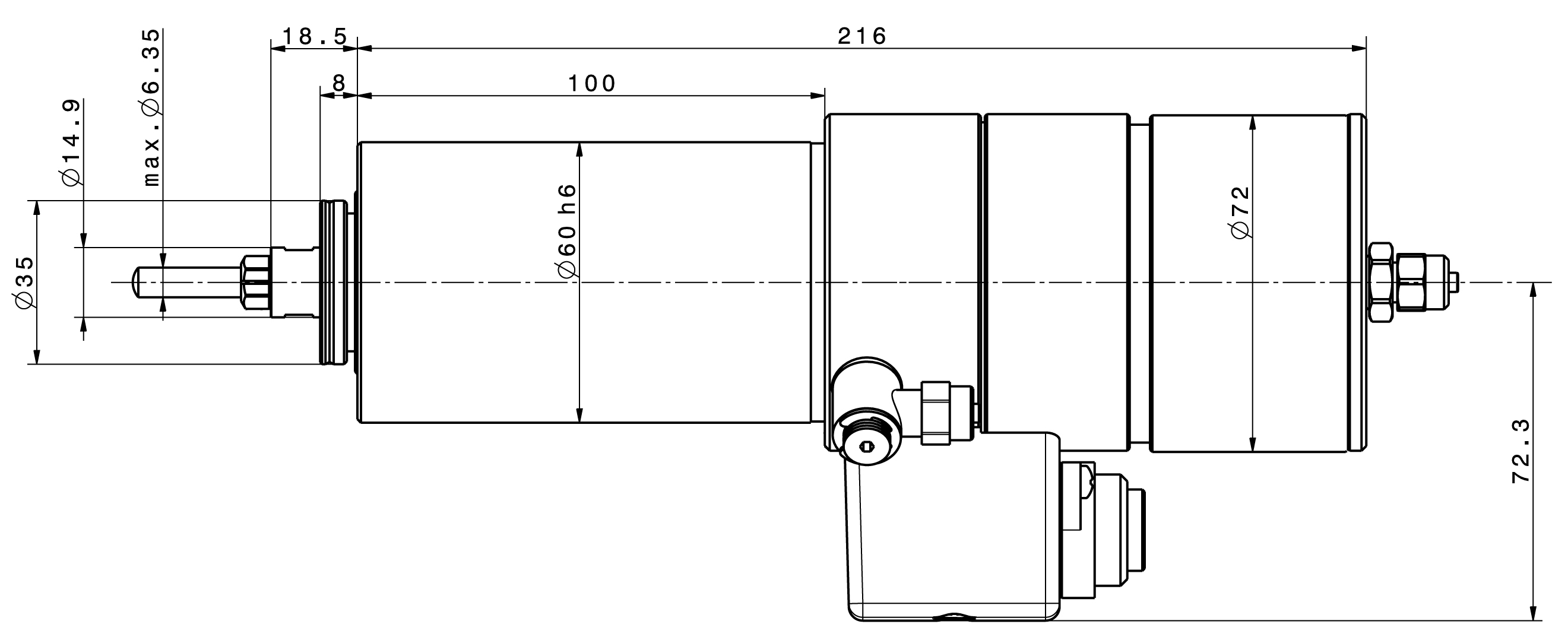 Type 4061 dimensions