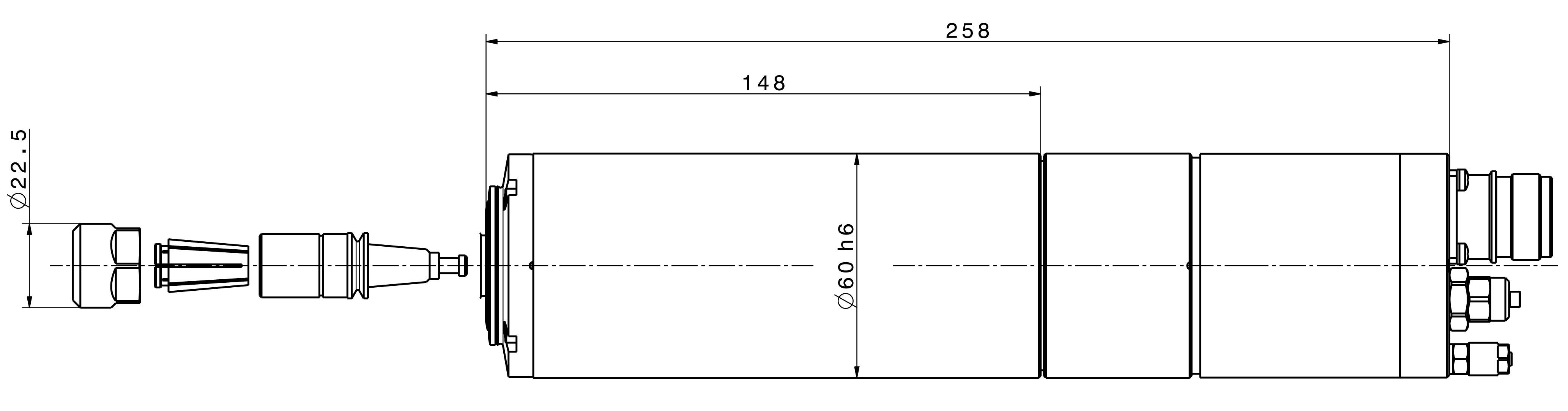 Type 4064 DC dimensions