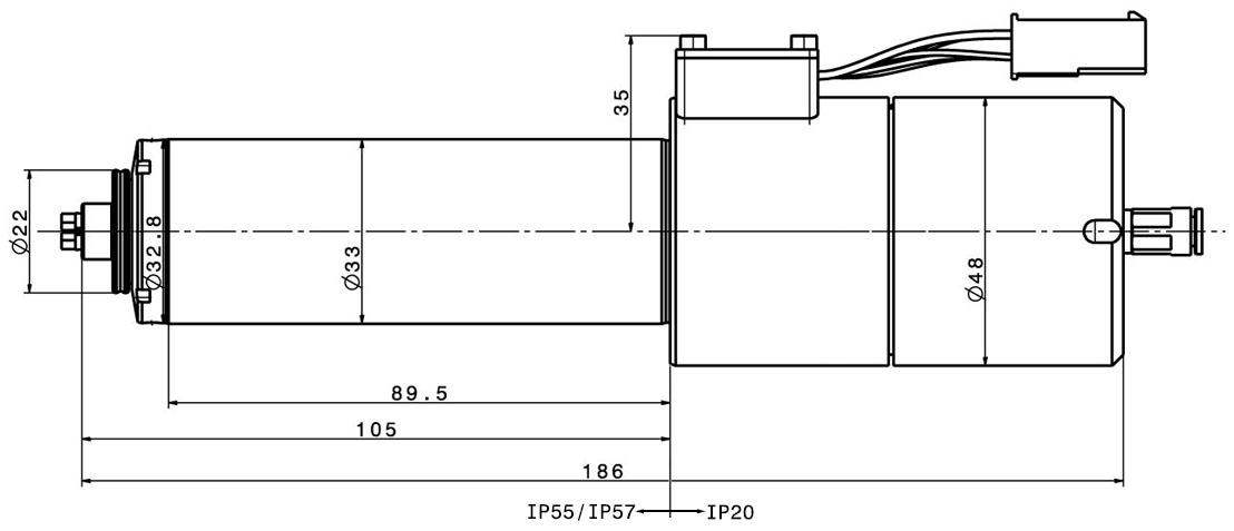 Type 4033 AC-ESD-LS-ST-60-CS dimensions