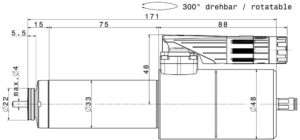 Type 4033 DC-T dimensions