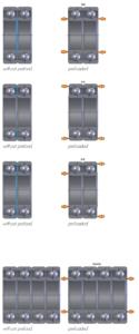 Duplex Bearing arrangement diagrams